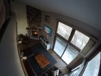 View of Living Room from loft.