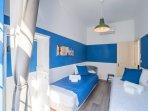 blue twin bedroom