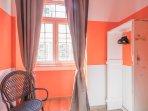 twin orange bedroom