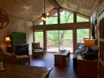 Home surrounded by trees in private setting.  15 minutes to Turner Falls