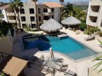 Third pool with downtown San Jose del Cabo in the background.