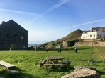 The famous Porthgain football pitch - always a game on and everyone welcome!