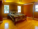 Spacious master bedroom upstairs, queen bed with a view!