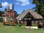 Water tank and Nipa hut