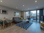 Large kitchen/living area with terrace is perfect for friends, colleagues or family's time in London