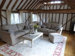 Hayloft upstairs lounge with beautiful countryside views
