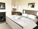 2nd floor : bedroom 3 : king bed