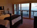 Queen bedroom with panoramic lake views