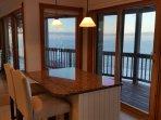 Breakfast bar with lake views