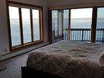 King Master bedroom with panoramic lake views