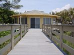 Private Boardwalk from Beach to House