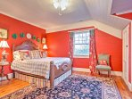 The second bedroom offers a plush full-sized bed.