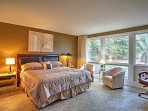 The master bedrooms feature king-sized bed.