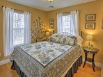 A pleasant night's sleep can be found on any of the home's comfortable beds.