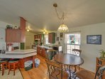 Gather around the 4-person dining room table for delicious home cooked meals and family games.