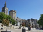 The imposing medieval Palace of the Popes in Avignon