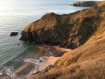 Walk to Cilborth beach on the coastal path between Cwmtydu and Llangrannog