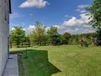 Stunning panoramic views of rural Carmarthenshire from the enclosed garden