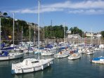 Vibrant harbour at Saundersfoot just a few miles away