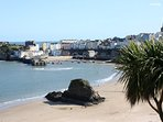 Picturesque Tenby where you will find lots of places to eat & drink.