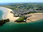 Tenby has wonderful golden sandy beaches, a harbour and historic walled town.