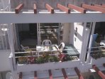 Balcony offers seamless outside & inside living spaces