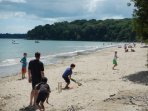 A game of cricket on the beautiful Priory Bay Beach; a short trip in a boat or a short drive & walk