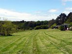 There's a large open field that is kept mown for guests' use