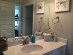 Jack and Jill bathroom with shower