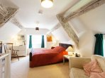 Lovely light room, with ancient beams and deliciously comfy bed