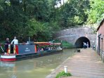 Blisworth Tunnel Stoke Bruerne featuring 'Charlie' one of two Stoke Bruerne to Blisworth  trip boats