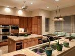Chefs Dream Kitchen: 2 ovens, 2 microwaves, 2 dishwashers, wine frig, Subzero frig and gas range +++