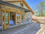 Step out onto the deck as you gaze out onto Lake Placid.