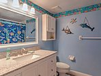 With 2 full bathrooms, there is plenty of space for everyone to freshen up.
