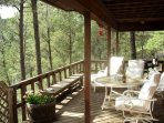 Large deck with awesome views.  a spectacular view of Sierra Blanca.