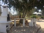 The Trullo's private BBQ, food prep area and outdoor sink