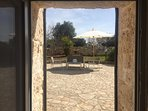 The view from the Trullo to its private terrazza