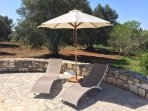 Sun loungers and shade for the pool
