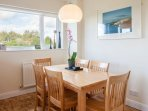 dining table seats six comfortably