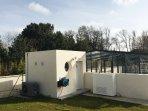 Chaufferie de la piscine (air et eau)