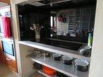 Induction hob in kitchen-diner.