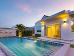 9x3m pool, spacious garden and direct access from master bedroom