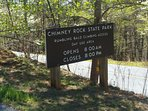 Walk to Chimney Rock Hiking Trails. Minutes from cabin