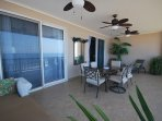 Great terrace for entertaining with ceiling fans for added breeze