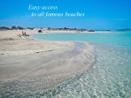 Easy access to all famous beaches. Elafonisi beach-lagoon