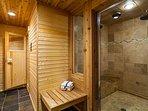 Private steam room and sauna