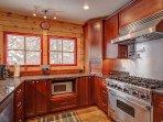 Beautiful kitchen with 6 burner gas range