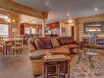 Living room with heated floors
