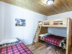 Bedroom with full bunk bed and twin trundle bed