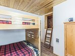 Bedroom attached to kids loft playroom